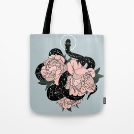 Celestial Snake in Blue Original by Moon Goddess Market Tote Bag