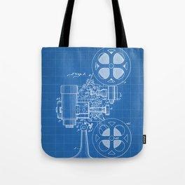Film Projector Patent - Cinema Art - Blueprint Tote Bag