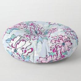 Blue Fresh Florals Floor Pillow