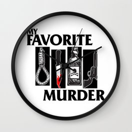 MY FAVORITE MURDER X BLACK FLAG Wall Clock