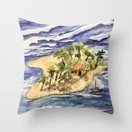 Far From the Crowd Throw Pillow