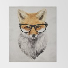Mr. Fox Throw Blanket