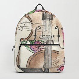Violin and Flowers Backpack