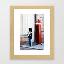 The tin soldier Framed Art Print
