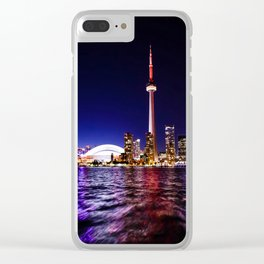 toronto city cn tower skydome Clear iPhone Case