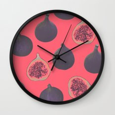Fig pattern Wall Clock