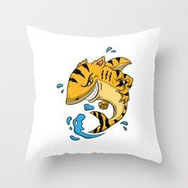 Tiger Shark T Shirt Tigershark Boys Men Kids Predators Gift Idea Throw Pillow