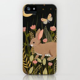 midnight rabbit iPhone Case