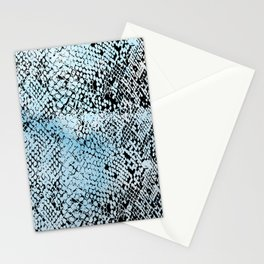 Snake Skin Blue Watercolor Stationery Cards