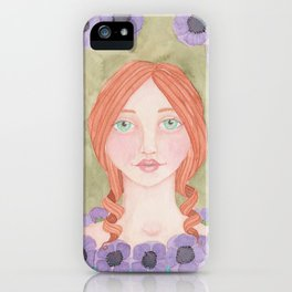 Anemone Girl iPhone Case