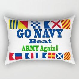Go Navy, Beat Army in Signal Flags Rectangular Pillow