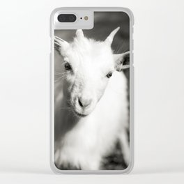 Goat kid Clear iPhone Case