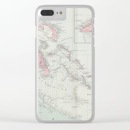Vintage Map of The Bahamas (1904) Clear iPhone Case