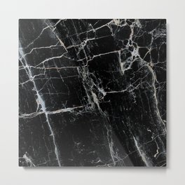 Black Marble Edition 1 Metal Print