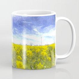 Yellow Fields Of Summer Art Coffee Mug