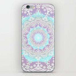 Bohemian Heaven Mandala Purple Blue White iPhone Skin
