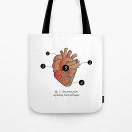 Five Point Palm Exploding Heart Technique Tote Bag