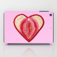 vagina iPad Cases featuring Sequin Vagina by King Sophie's World