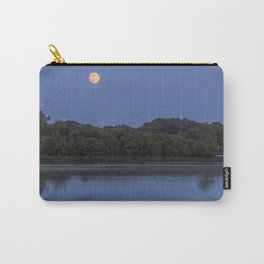 The Full Moon Rises over Lake Normandale Carry-All Pouch