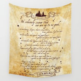 We solemnly swear that we are up to no good print - potter Wall Tapestry