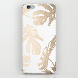 Simply Tropical Palm Leaves in White Gold Sands iPhone Skin