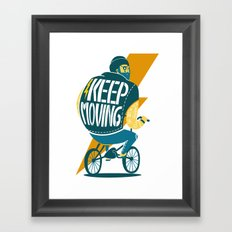 Keep moving Framed Art Print