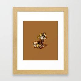 Doggo Punk Framed Art Print