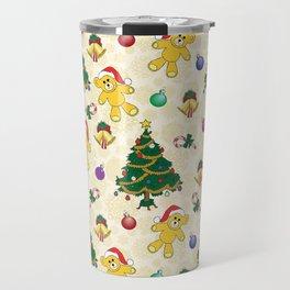 Christmas bear,bells and tree SB3 Travel Mug