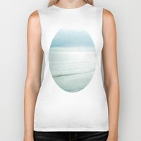 silent Biker Tanks featuring Silent Sea by Bella Blue Photography