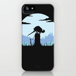 Grey Wolf Sif (Dark Souls) - in black iPhone Case