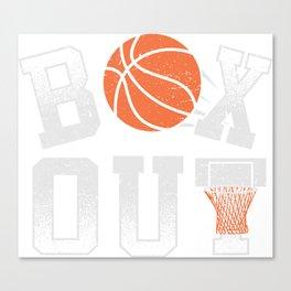 Basketball Coach Shirt Box Out rebound defense Canvas Print