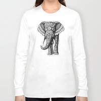 bioworkz Long Sleeve T-shirts featuring Navajo Elephant by BIOWORKZ