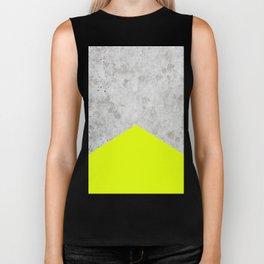 Concrete Arrow - Neon Yellow #521 Biker Tank