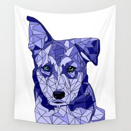 Rufus in Blue Wall Tapestry
