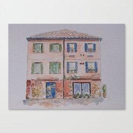 Shabby building Canvas Print