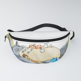 Ghibli forest illustration Fanny Pack