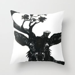 Fading Forests Throw Pillow