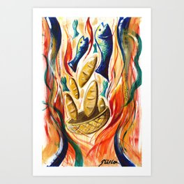 Loaves and Fishes Art Print
