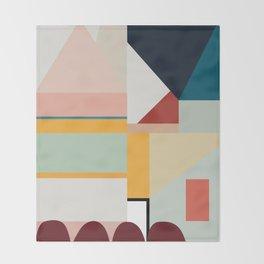 modern abstract II Throw Blanket