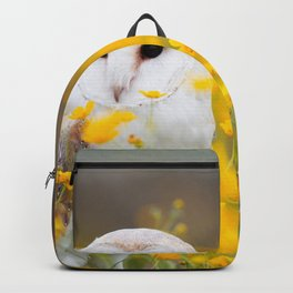 Little Owlet in Flowers (Color) Backpack