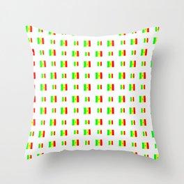 Flag of senegal 2 Handmade Throw Pillow