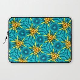 Birds of Paradise Floral Pattern \\ Unique Tropical Vibes \\ Green Yellow Blue Orange Color Scheme Laptop Sleeve
