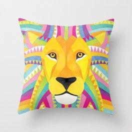 Shanti Sparrow: Marley the Lion Throw Pillow