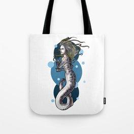 Sea Lamprey Mermaid Tote Bag