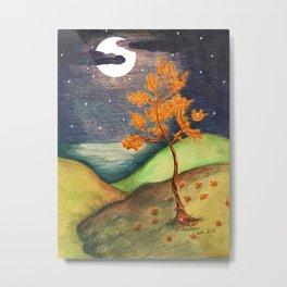 Fire Tree Metal Print