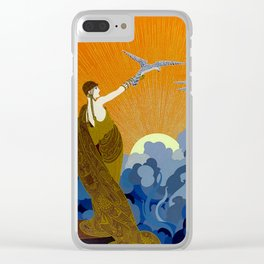 """Wings of Victory"" Art Deco Design Clear iPhone Case"