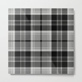 Black & White Tartan (var. 2) Metal Print