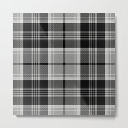 Black & White Tartan (var. 2) Metal Print