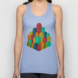 078 - Owly visits the poplar forest in autumn I Unisex Tank Top