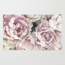 Roses, Pink Roses, Pastel Roses, Cottage Chic Roses Rug